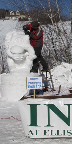 Snow Sculptor at work