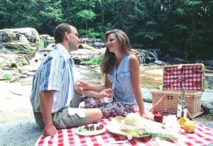 picnic at Jackson Falls