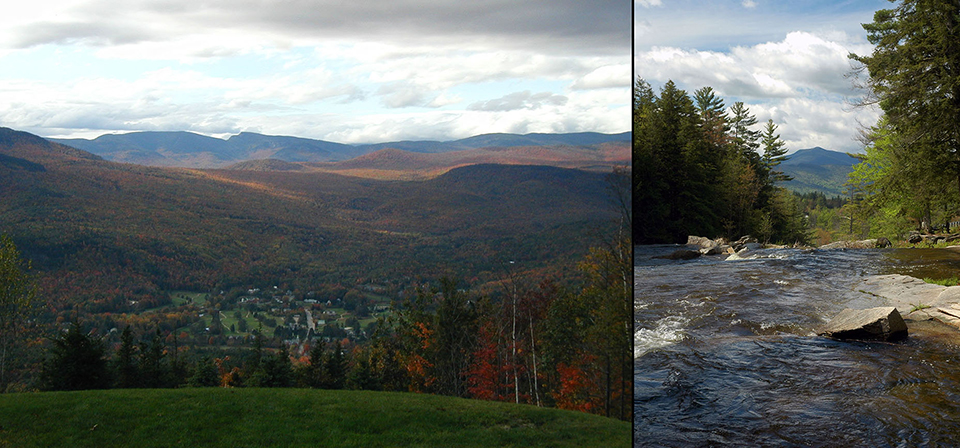 Collage overview Jackson village & Jackson Falls