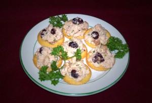 Turkey Terrine Appetizer on Crackers