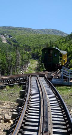 Cog Train Climbing Mount Washington