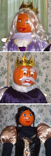 King Pumpkin, Queen Pumpkin, Stepmother Pumpkin People