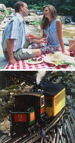 picnic jackson falls cog railway